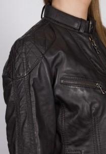 Blouson en cuir Redskins femme noir Ericas.