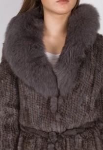 Manteau en vison REVACUIR femme gris Luxor.