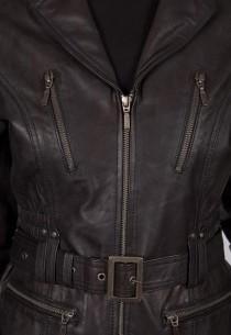 Veste en cuir LPB femme Noire Vicini.