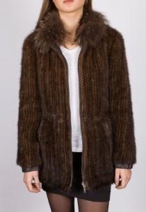 Manteau en vison Revacuir femme marron 6507VTM.
