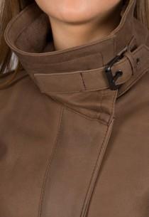 Manteau en peau lainée Luis Campoy  femme marron 12111.