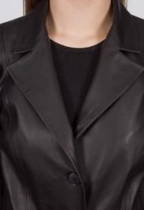 Veste en cuir Giorgio femme noir Irène.