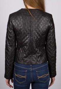 Blouson en cuir LPB femme noir MamamiaBis.