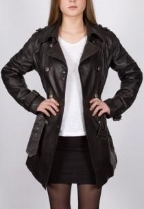 Veste en cuir Giorgio femme noire Roxanne.