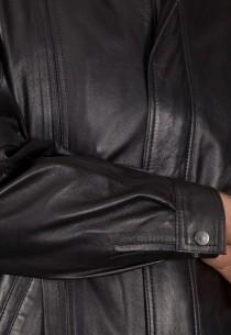 Blouson en cuir Revacuir homme noir Jeannot.