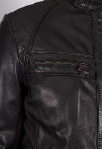 Blouson en cuir Redskins homme noir Balboa