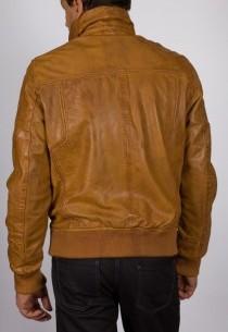 Blouson en cuir Redskins homme cognac Cayenne.