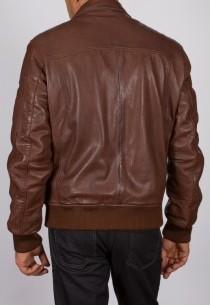 Blouson en cuir Redskins homme marron Cayenne.