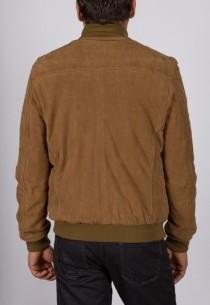 Veste en peau Redskins homme marron Krugger.