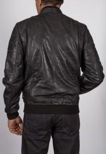 Blouson en cuir Redskins homme noir WickFord.