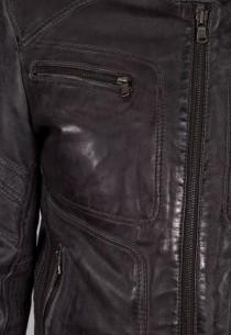 Blouson en cuir Redskins homme noir Ayrton Mojito.