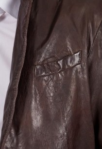 Veste en cuir Daytona homme marron Paris.