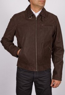Veste en peau Daytona homme marron Major Nubuck.