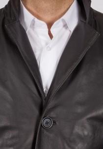 Redingote en cuir LastRebel homme noir Blazer02.