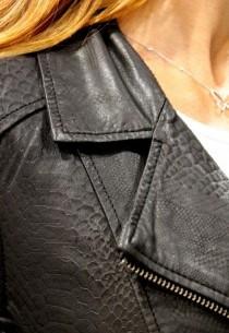 Blouson en cuir LpB femme noir PerfPython.
