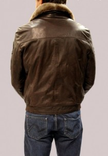 Blouson en cuir RedSkins homme marron Passadena