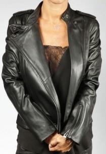 Blouson en cuir GIORGIO femme ELSA2 noir-agneau