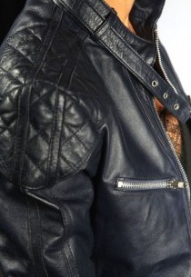 Blouson en cuir femme siam-bleu-marine-agneau