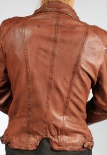 Veste en cuir OAKWOOD femme CAMERA whisky