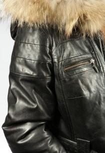 Veste en cuir femme Thalia-100371-black-agneau