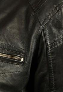 Blouson en cuir HUGO AGNEAU TIGER BLACK