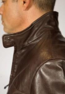 Blouson Cuir Homme Werner-Lamb-Sigma-100536-Brown