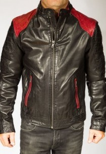 Blouson Cuir Homme Daytona CODY Sheep-tiger-rouge