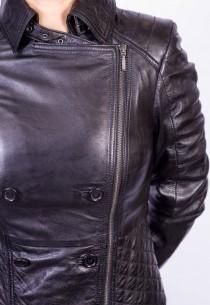 Blouson Cuir Femme LPB 2LEANA BLACK