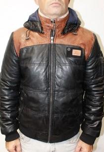 Blouson cuir Redskins Silver Calista Noir/Cognac