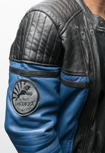 Blouson cuir homme style perfecto Redskins Andy Ocean Blue
