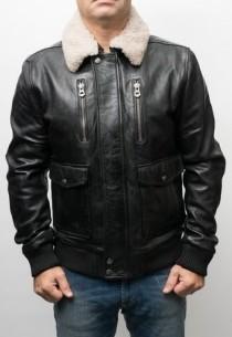 Blouson Pilote cuir Daytona Rafal Noir