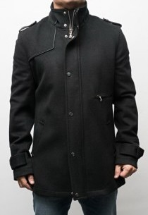 Manteau Col Officier Izac Surf Noir