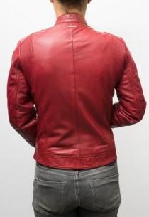 Blouson cuir Redskins Boogie Red