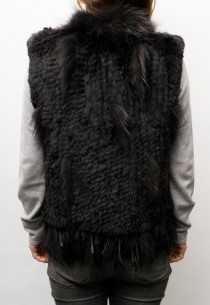 Gilet sans manches Oakwood lapin tricoté Noir
