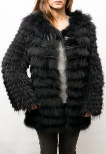 Gilet fourrure renard Oakwood Storage noir