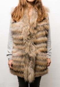 Gilet fourrure renard Oakwood Beauty beige