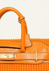 Grand Sac Cuir Mac Douglas PYLA BRUMMELL Matelasse carreau ORANGE