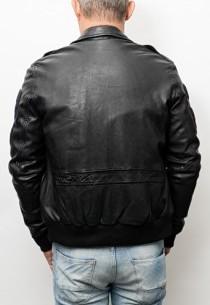 Blouson cuir homme Redskins Perry Black