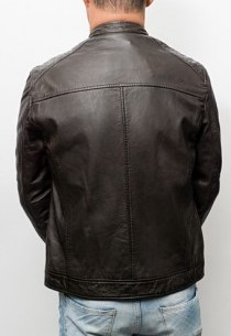 Blouson cuir Oakwood Agency Marron