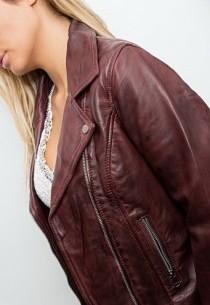 Blouson cuir Redskins Bridget Bordeaux