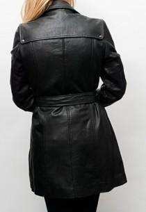 manteau en cuir femme redskins