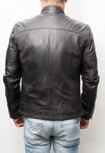 veste cuir redskins couleur gris