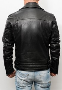 Blouson Perfecto cuir Redskins Leader Kansas Black
