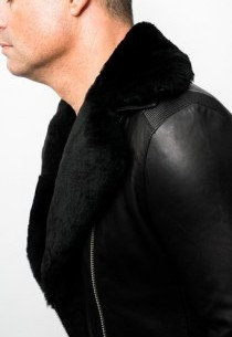 Blouson Perfecto cuir Redskins Luxury Borsa Black