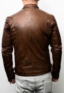 Blouson cuir Daytona Chester Cow Leon Cognac