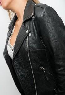Blouson Perfecto cuir Serge Pariente Samantha Black
