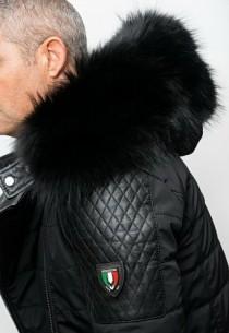 Blouson Ventiuno Modena Noir Col Noir