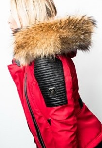 Blouson Femme Horspist Milano Bis Rouge Col Naturel