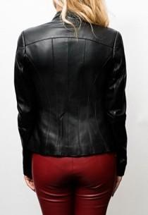 Blouson cuir Giovanni Ambra Black