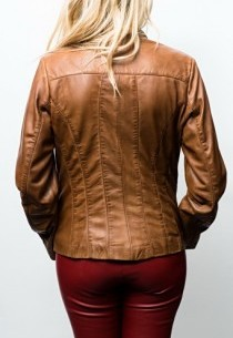 Blouson cuir Giovanni Ambra Gold